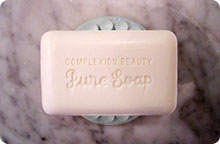 Bar Soap on Helping Hand Soap Holder